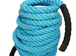 AZUKA® Ultimate Fitness Strength Training Battle Rope 1.5 inch 40ft (Ocean Blue),Weight-9.5kg
