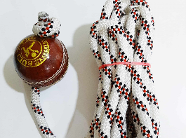 Azuka Leather Cricket Ball for Practice and Knocking Cricket Ball with Rope